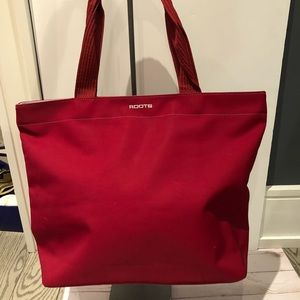 Roots canvas tote bag